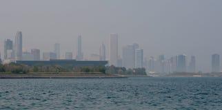 Skyline nevoenta Imagem de Stock