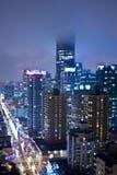 Skyline nevoenta da cidade Fotografia de Stock