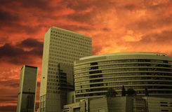 Skyline of new architecture Royalty Free Stock Photography