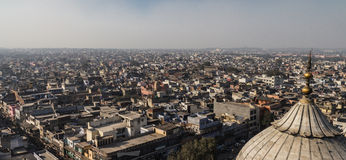 Skyline of New Delhi, India. Aerial view of skyline in New Delhi, India on sunny day Royalty Free Stock Photography