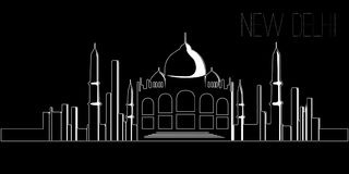 Skyline of New Delhi Royalty Free Stock Images