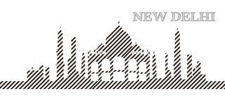Skyline of New Delhi Stock Photography