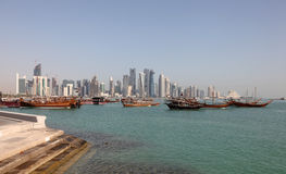 Skyline of the new Doha downtown royalty free stock photos