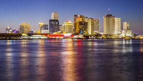Skyline of New Orleans Across the Mississippi River Stock Image