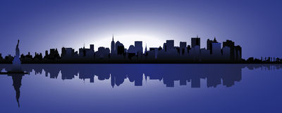 Skyline New York. At night Stock Photography
