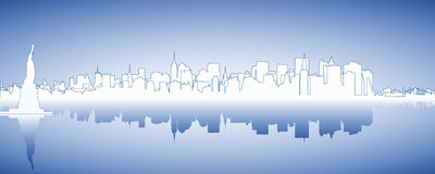 Skyline New York. Skyline from New York with liberty Royalty Free Stock Photos