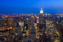 Skyline of New York City Stock Images