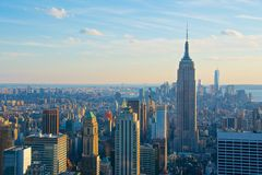 Skyline New York City with Empire State building Stock Photography