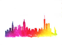 Skyline of new york city Royalty Free Stock Images
