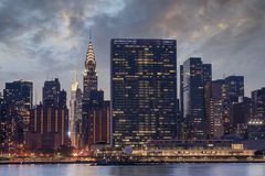 Skyline New York City Manhattan, Sitz der Vereinter Nationen Stockfotos