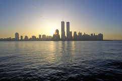 Skyline of New York City from New Jersey Royalty Free Stock Photo