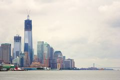 Skyline of New York downtown Stock Photos