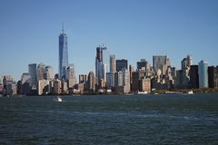 Skyline New York Manhattan Hudson River Light Stock Images