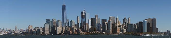 Skyline New York Manhattan Hudson River Light.  Royalty Free Stock Photo