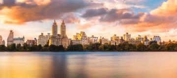 Skyline New York Upper West Side Stockbild