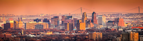Skyline Newarks New-Jersey lizenzfreies stockfoto