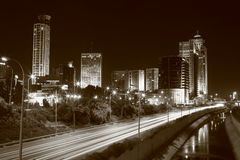 Skyline at night. Tel Aviv skyline at night Stock Image