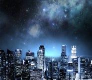 Skyline at night Stock Image