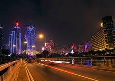 Skyline at night in macau china Royalty Free Stock Image