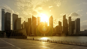 Skyline no luminoso Imagem de Stock Royalty Free