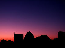 Skyline no nascer do sol Foto de Stock Royalty Free