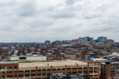 skyline of north fells point and patterson park in baltimore mar royalty free stock photo