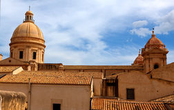 Skyline Noto, Sicília, Itália Imagens de Stock