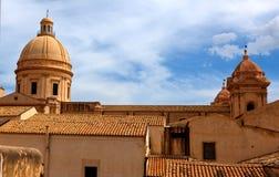 Skyline Noto, Sizilien, Italien Stockbilder