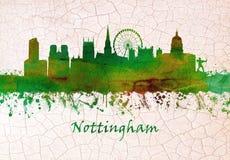 Nottingham England skyline stock illustration
