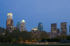 A skyline NOVA de Philadelphfia Imagem de Stock