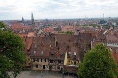 Skyline of Nuremberg Royalty Free Stock Photos