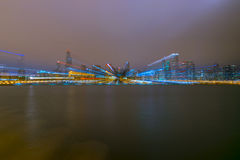 Skyline obscura de Chicago Imagens de Stock Royalty Free