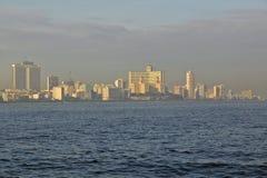 Skyline and ocean of Havana, Cuba Royalty Free Stock Photos