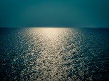 Skyline at ocean, night temp. Royalty Free Stock Photos