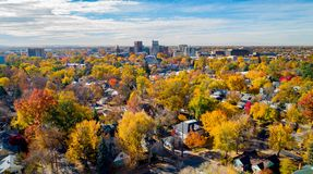 Free Skyline Of Boise Idaho With City In Full Autumn Bloom Stock Photos - 135055593