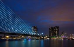 Free Skyline Of Rotterdam At Night Stock Photos - 47213873