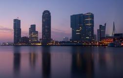 Free Skyline Of Rotterdam At Night Stock Image - 47418001