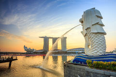 Free Skyline Of Singapore Royalty Free Stock Photos - 55215408
