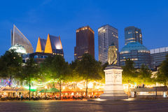 Free Skyline Of The Hague At Night In The Netherlands Royalty Free Stock Photography - 43960107