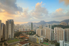 Skyline office buildings and public house urban. Jordan Valley ,Ping Shan view of kowloon 2016 Stock Photography
