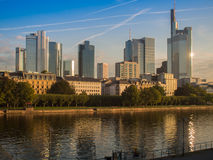 The skyline ogf Frankfurt, Germany, in the morning Stock Photo