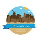 Skyline of old city of Jerusalem Stock Images