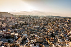 Skyline of the Old City in Jerusalem, Israel. Royalty Free Stock Photos