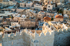 Skyline of the Old City in Jerusalem from north, Israel. Stock Image
