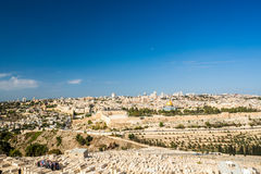 Skyline of the Old City at Temple Mount in Jerusalem, Israel. Royalty Free Stock Image