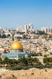Skyline of the Old City at Temple Mount in Jerusalem, Israel. Royalty Free Stock Photo