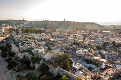 Skyline of the Old City at Temple Mount in Jerusalem, Israel. Stock Photos