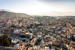Skyline of the Old City at Temple Mount in Jerusalem, Israel. Stock Photography