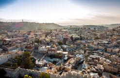 Skyline of the Old City at Temple Mount in Jerusalem, Israel. Royalty Free Stock Photos