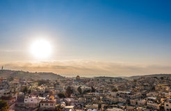 Skyline of the Old City at Temple Mount in Jerusalem, Israel. Royalty Free Stock Images